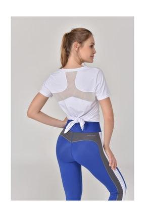 bilcee Beyaz Kadın Sırt Detaylı Kadın T-Shirt GS-8110 3