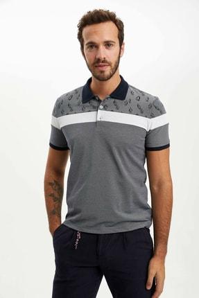 Defacto Erkek Çivit Mavisi Slim Fit Polo T-shirt M8179AZ.20SP.IN120 2