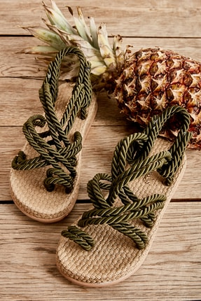 Bambi Haki Kadın Sandalet H0578010160 0