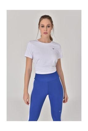 bilcee Beyaz Kadın Sırt Detaylı Kadın T-Shirt GS-8110 4