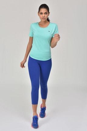 bilcee Turkuaz Kadın Sırt Detaylı Kadın T-Shirt GS-8110 0