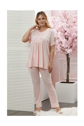 Flz Pijama Kadın Büyük Beden Lohusa Emzirme Pijama Takım 1