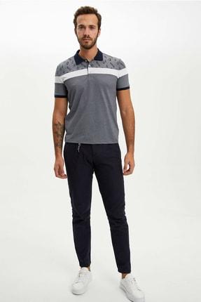 Defacto Erkek Çivit Mavisi Slim Fit Polo T-shirt M8179AZ.20SP.IN120 1