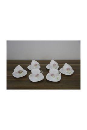 Luminarc Çay Fincanı Jacinthe 6' lı Beyaz Seti 220 ml 0