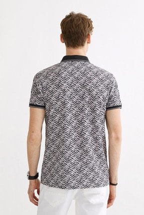 Avva Polo Yaka Baskılı T-Shirt 2