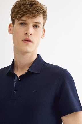 Avva Polo Yaka Jakarlı T-Shirt 1