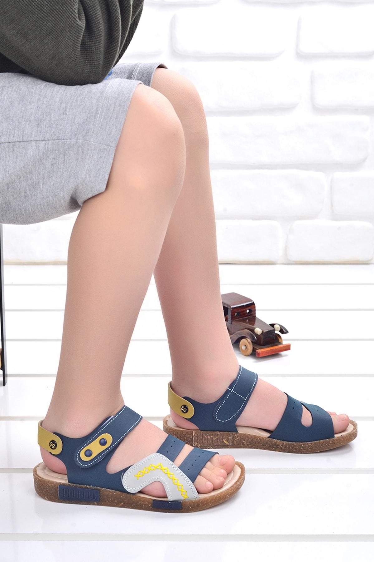 Kiko Şb 2498-07 Ortopedik Erkek Çocuk Sandalet Terlik