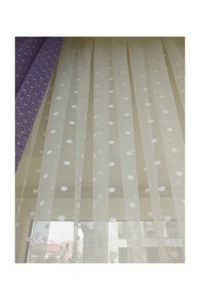 Esse Home Puantiyeli Dantel Tül Perde Seyrek Pile, 1/2  100x250 cm 3