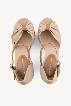 Tommy Hilfiger Kadın Gri Dolgu Topuklu Ayakkabı Iconıc Elena Sandal FW0FW00905 4