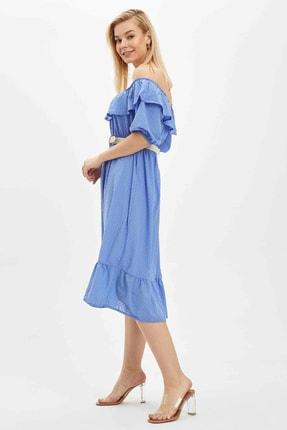 Defacto Kadın Mavi Desenli Regular Fit Elbise R1379AZ.20SP.BE1 1