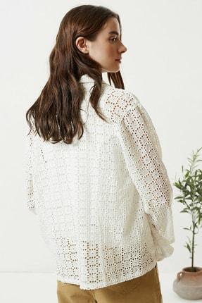 Yargıcı Kadın Kırık Beyaz Brode Ceket 0YKCK5150X 3