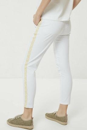 Yargıcı Kadın Beyaz Nakış Detaylı Denim Pantolon 0YKPN3123X 3
