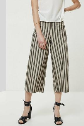 Yargıcı Kadın Antrasit Çizgili Cep Detaylı Pantolon 0YKPN3110X 3