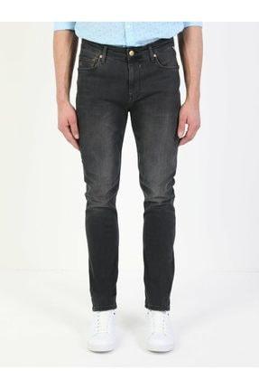 035 Ryan Yüksek Bel Dar Paça Skinny Fit Koyu Gri Erkek Jean Pantolon resmi