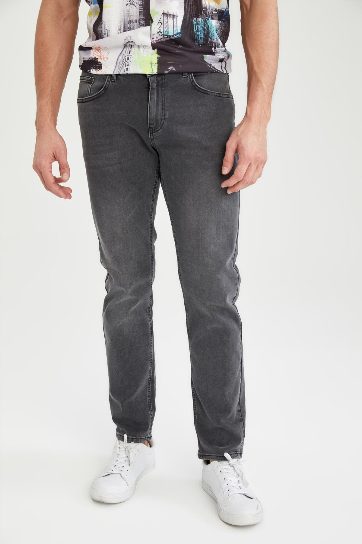 Defacto Sergio Regular Fit Normal Bel Boru Paça Jean Pantolon 0