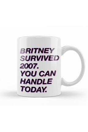 Baskı Dükkanı Britney Survived 2007 Kupa Bardak Porselen 0