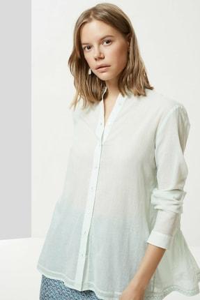 Yargıcı Kadın Mınt Nervür Detaylı Gömlek 0YKGM6134X 0