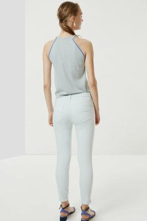 Yargıcı Kadın Buz Mavisi Fermuar Detaylı Denim Pantolon 0YKPN3132X 2