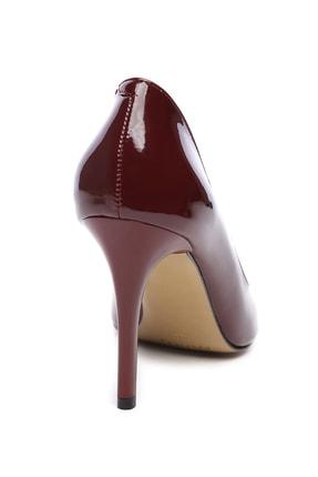 Kemal Tanca Bordo Kadın Vegan Stiletto Ayakkabı 723 5064 BN AYK Y19 2