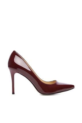 Kemal Tanca Bordo Kadın Vegan Stiletto Ayakkabı 723 5064 BN AYK Y19 0
