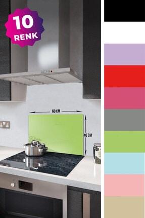 Decorita Düz Renk - Neon Yeşil | Cam Ocak Arkası Koruyucu | 40cm x 60cm 1