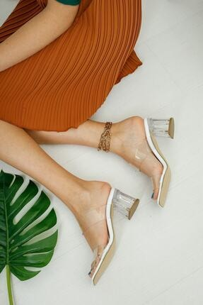 meyra'nın ayakkabıları Şeffaf Bant Ve Topuk Detay Topuklu Ayakkabı 1