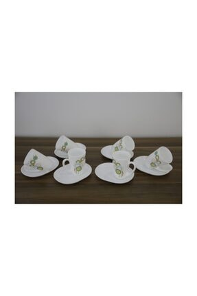 Luminarc Spring Pop 6'lı Beyaz Çay Fincanı Seti 220 ml 0