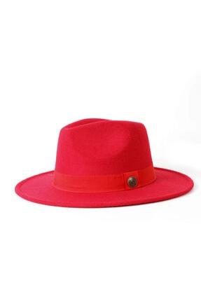 Kapin Kırmızı Fötr Şapka 0