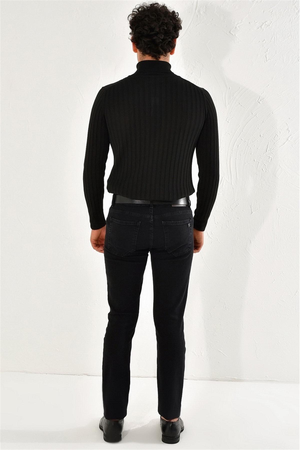 Efor 053 Slim Fit Siyah Jean Pantolon 4