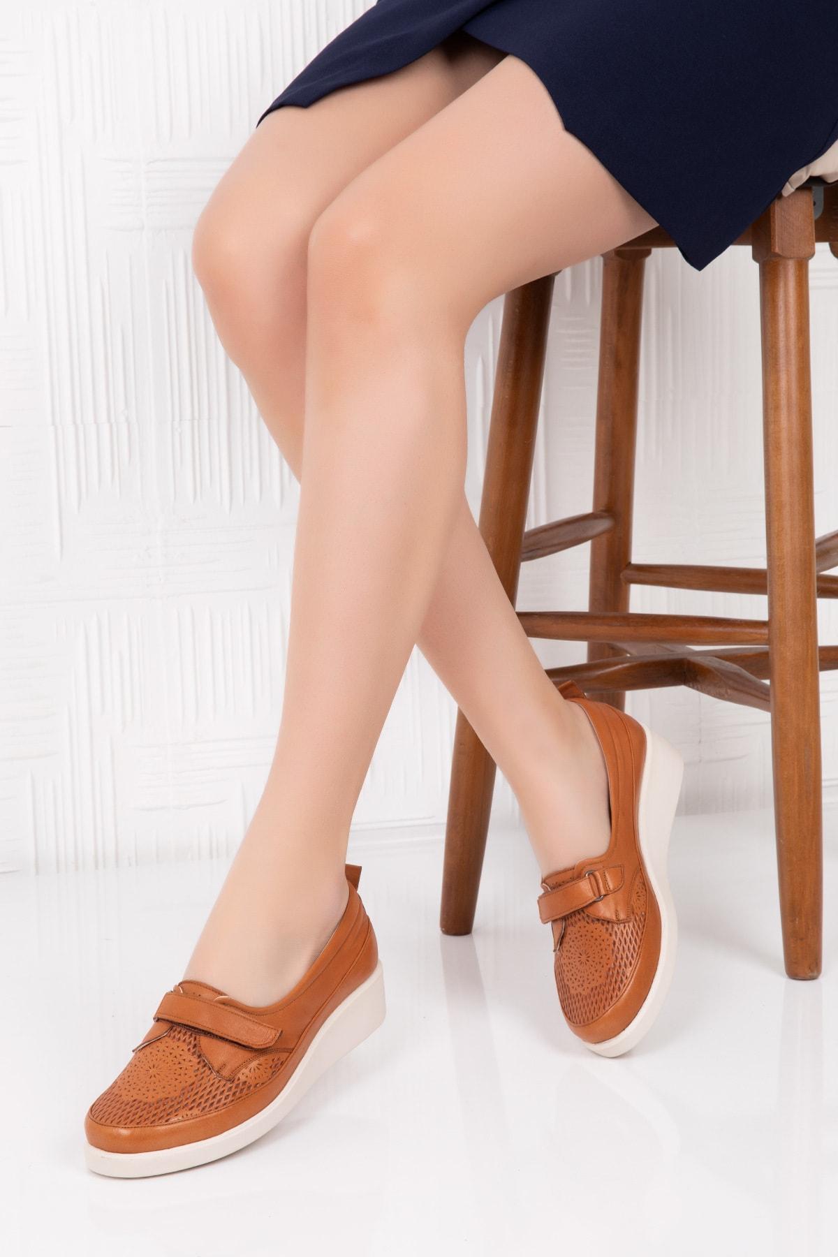 Gondol Hakiki Deri Ortopedik Taban Günlük Ayakkabı
