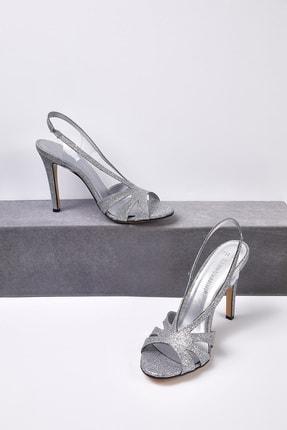 Picture of Kadın Gümüş Taşlı Topuklu Abiye Ayakkabısı CHARLIZE