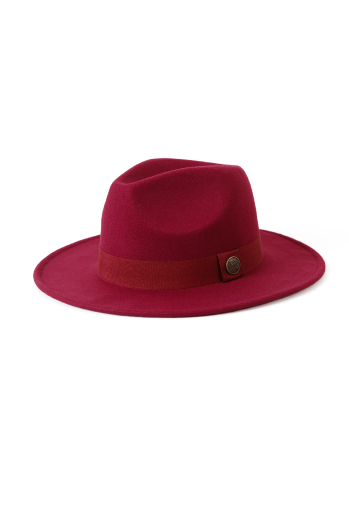 Bordo Fötr Şapka
