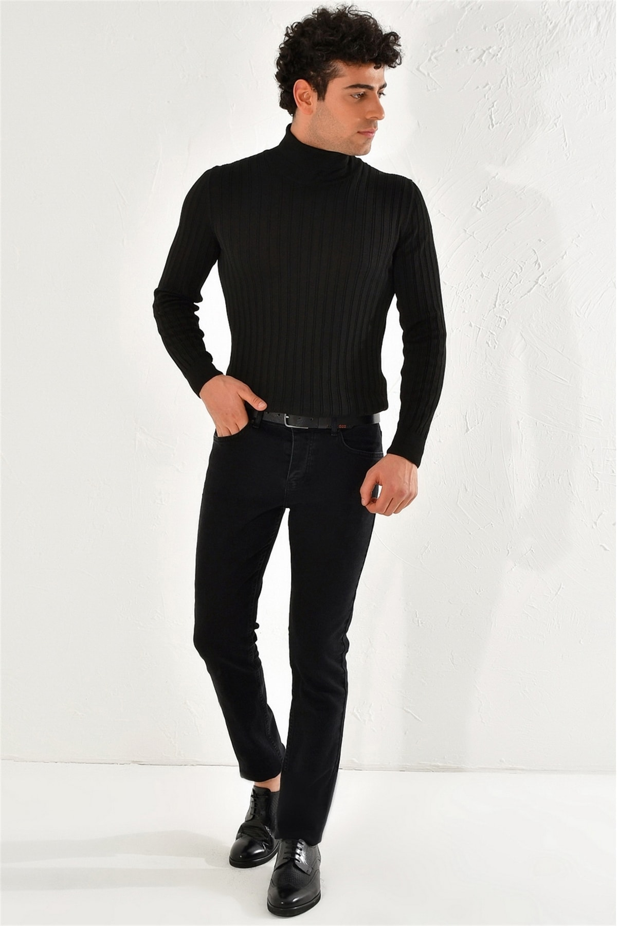 Efor 053 Slim Fit Siyah Jean Pantolon 3