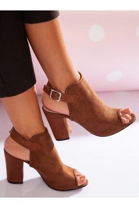 ayakkabıhavuzu Kadın Taba Süet Topuklu Ayakkabı 3