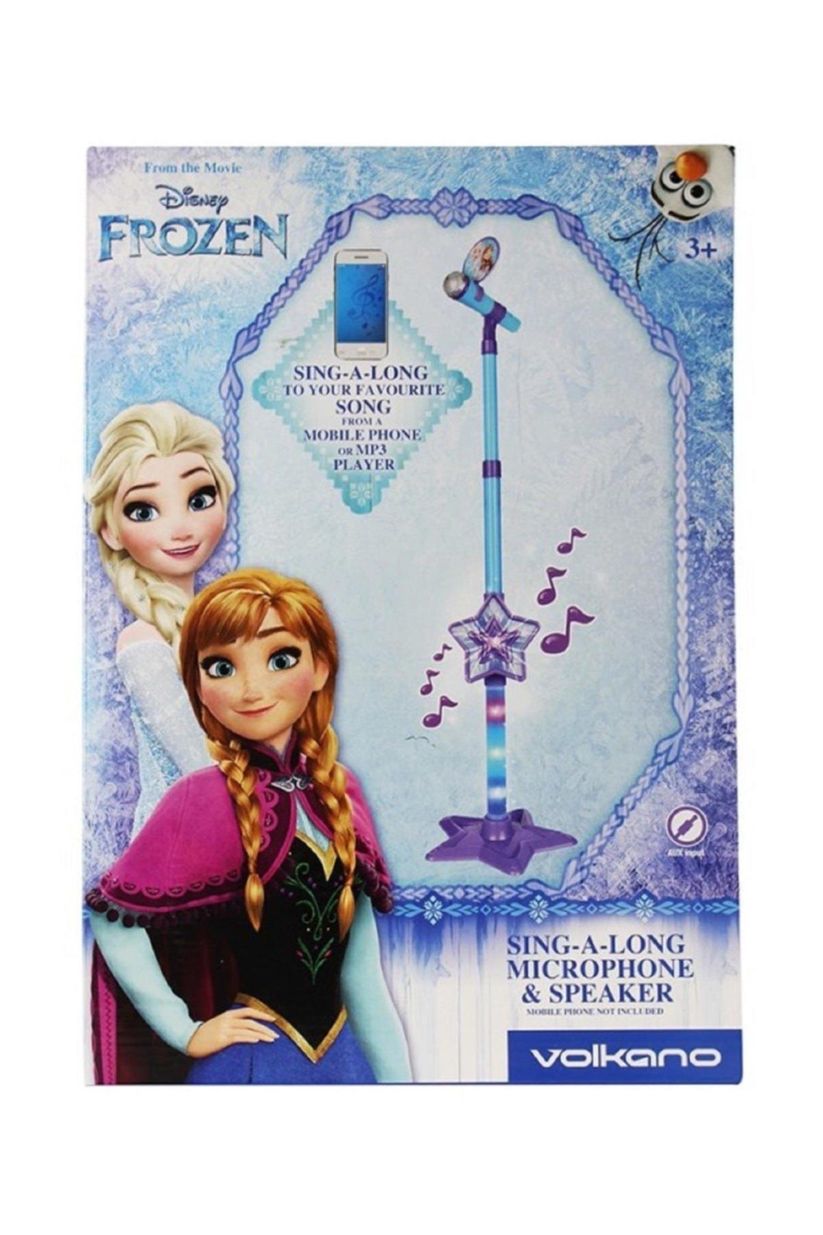 Volkano Disney Frozen Karlar Ülkesi Ayaklı Mikrofon Seti Karaokeli Işıklı Lisanslı Dy-10701-fr