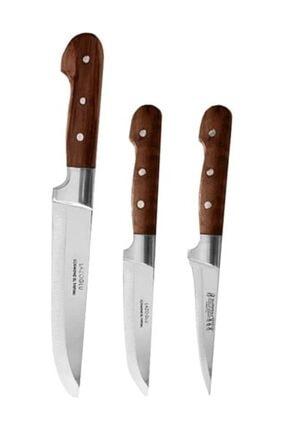 Neptüns Lazoğlu Sürmene Bıçak Seti (3'lü) Dövme Çelik El Yapımı 0