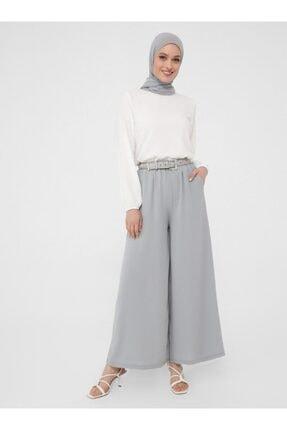 Beli Lastikli Aerobin Pantolon Etek - Gri - Woman resmi