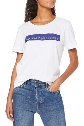Kadın Box Logo T-Shirt WTHM7001