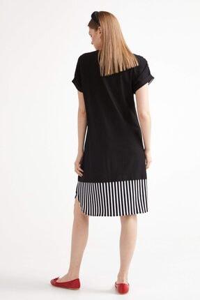 Sementa Marine Kısa Kol Kadın Elbise - Siyah 3