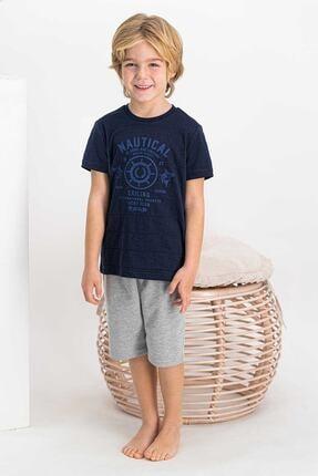 Arnetta Nautical Sailing Lacivert Erkek Çocuk Bermuda Takım 0