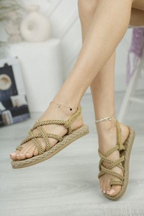 Muggo Rymw614 Kadın Hasır Sandalet 1
