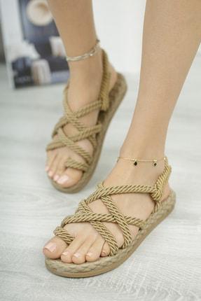 Muggo Rymw614 Kadın Hasır Sandalet 2