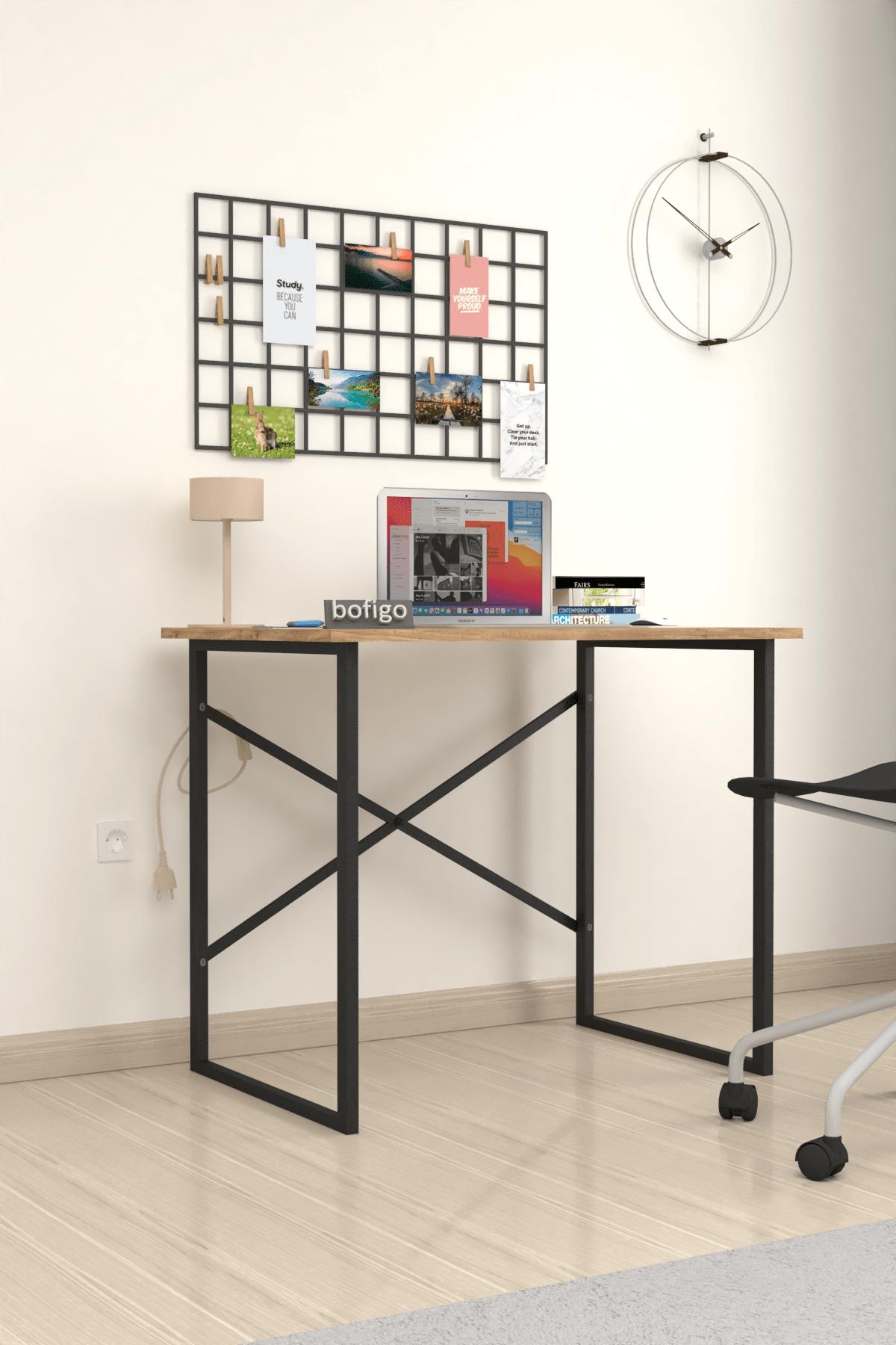 Bofigo Çam Çalışma Masası Laptop Bilgisayar Masası Ofis Ders Yemek Cocuk Masası 60x90 cm 1