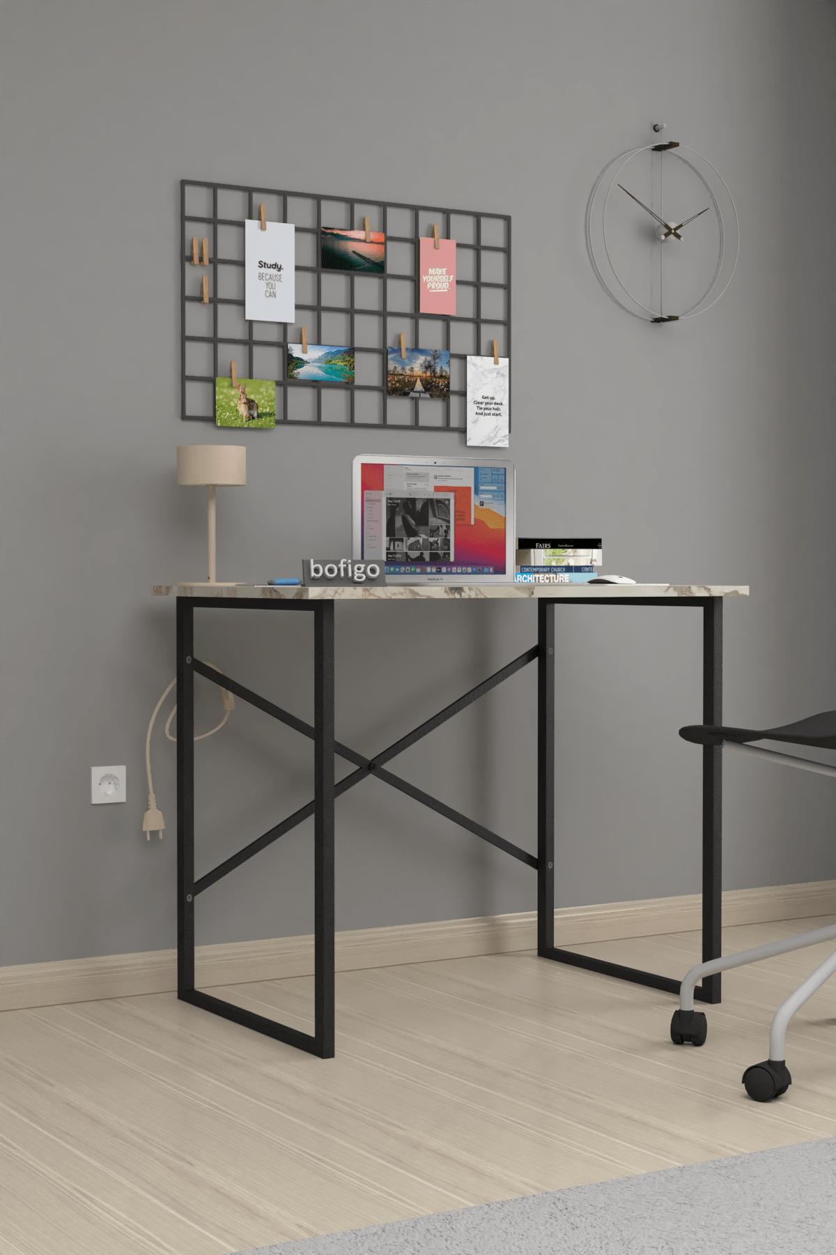 Bofigo 60x90 cm Çalışma Masası Laptop Bilgisayar Masası Ofis Ders Yemek Cocuk Masası Efes 1