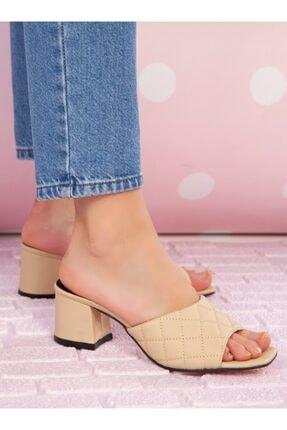 ayakkabıhavuzu Kadın Ten Topuklu Terlik 1
