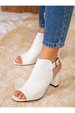 ayakkabıhavuzu Kadın Beyaz Cilt Topuklu Ayakkabı 1