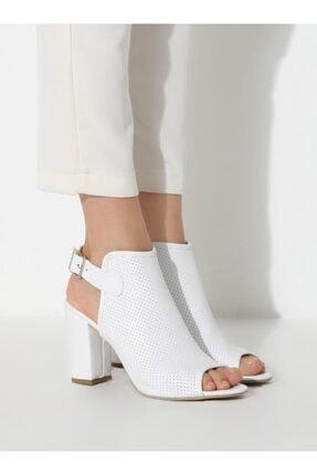 ayakkabıhavuzu Kadın Beyaz Cilt Topuklu Ayakkabı 4