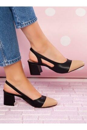 ayakkabıhavuzu Kadın Siyah Nude Topuklu Ayakkabı 0