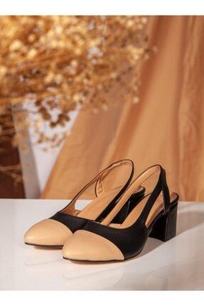 ayakkabıhavuzu Kadın Siyah Nude Topuklu Ayakkabı 1