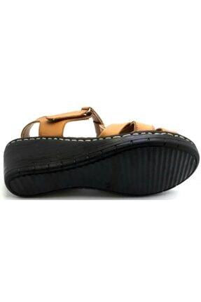 PUNTO -390107- Taba %100 Deri Kadın Dolgu Taban Sandalet 3